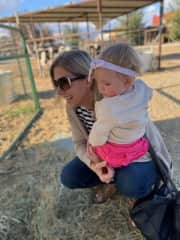 This photo was taken at a farm this fall with my sweet granddaughter Elayna. She loved the goats the MOST!