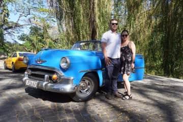 Historic car ride Havana Cuba
