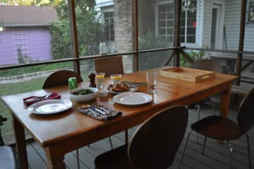 Screened in deck (dinner not included)