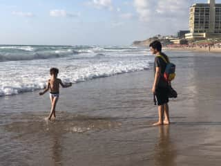 Love the ocean. Back home the beach is a mere 5 min. Drive away. Tuval starts every day with an hour long brisk walk to the beach and back.