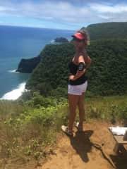 Diana hiking on the Big Island of Hawaii