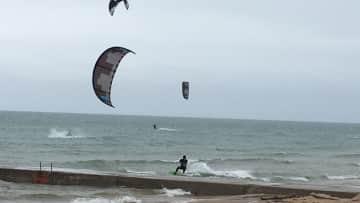 Enjoyed watching the kite surfers on Lake Michigan.