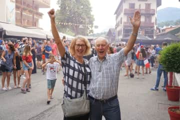 Janet and Rob celebrating the French World Cup win
