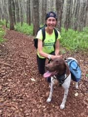 with Ruger in Makawao Forest Reserve