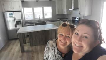 With my Mom shopping for a tiny house in Tx