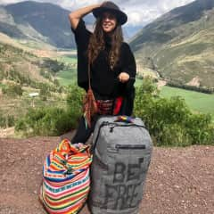 """As the bag says, """"be free"""" ! Taken in the Sacred Valley of Peru, one of my favorite places! Traveling is my favorite hobby! I love experiencing new cultures and landscapes!"""