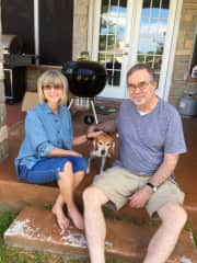 Bill and Cheri with Louie in Austin Tx