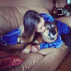 Me and my beautiful dog Cassie