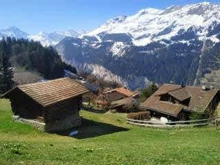 Our village of Wengen over looking the Swiss Alps