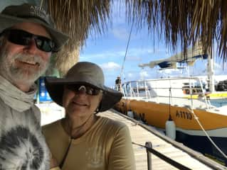 Mark and me traveling in Aruba.