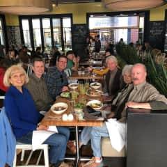 family celebrating Neal's (r) birthday in 2019