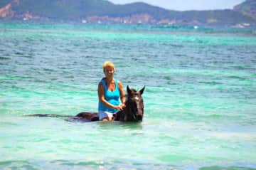 Swimming in the Caribbean with Zippy