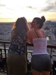 I love to travel and I love my twin! This is us celebrating our 30th birthday in Paris!