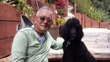 Russ and Sadie, a very smart standard poodle