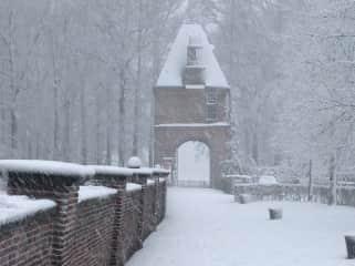 Entrance gate of Zuylen Castle, where I'm a volunteer castle and garden guide.