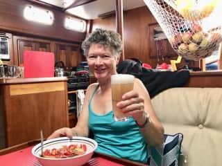 Me enjoying cruising in the Whitsunday islands