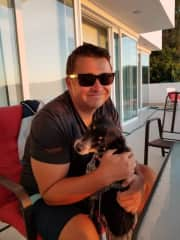 Rob with Sadie- she was such a smart girl!