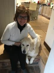 Doreen with Amber, Wellington, Dorset, UK, Jan 2018