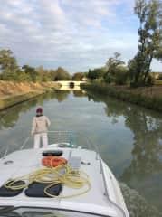 Enjoying the serenity of the Canal du Midi, France