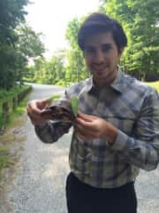 Greg & Rescued Turtle