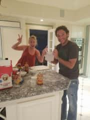 Homemade pizza night - We love to cook!