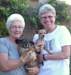 Kate and Sharon with our sweet doggies