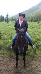 Trail ride in Canada
