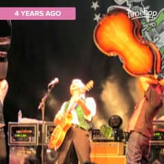 Best concert ever!  Brian Setzer in an old cathedral in Koln.