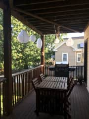 HUGE, private back deck. The grill is no longer there, sadly. :(