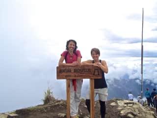 Hiking to the top of Mt. Maccu Picchu.