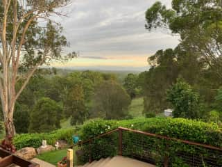 Morning view to the north east towards Noosa