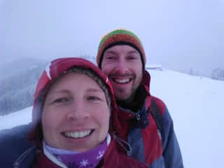 Stefan & Diana in  ski touring Switzerland 12/2018