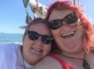 Purple Sharlot & Red Sarah
