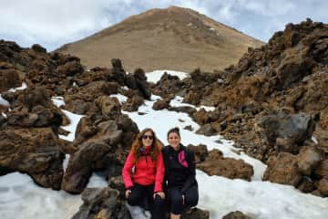 Anaïs and me in the mount Teide (Tenerife)