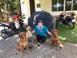 Bruno, Paula, Paul and me (Thailand)