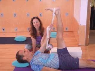 Me teaching yoga