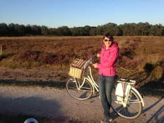 Summer biking in The Netherlands.