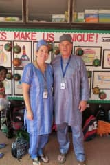 Getting into the Nigerian spirit at former school!