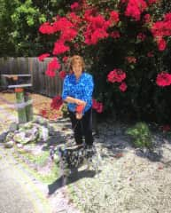 My dear friend, Lynne, in Islamorada, FL taking care of Bella