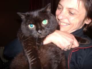 Me and Donald, my lovely late cat