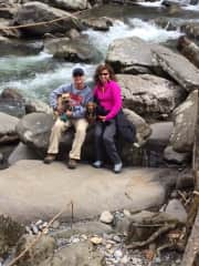 Family hike in the Great Smokey Mountains, Tennessee