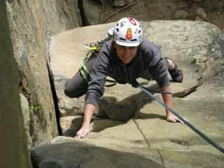Me climbing in Kentucky