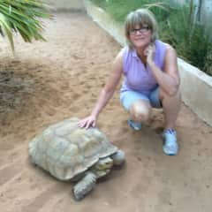 This is me with Rocky my African Spurred tortoise