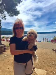 Mollie and I at Lake of the Woods in Southern Oregon