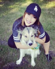 I have been a long time animal foster with an amazing rescue organization called Wags and Whiskers. Here I am with Indigo, a sweet Husky/Border Collie whom I took in to my home until I could find adopters for her.
