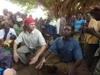 Rad in Togo, serving as a Peace Corps volunteer