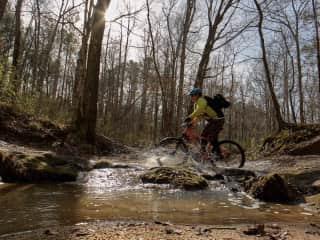 mt biking...