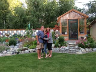 Troy, Stef and Chelle (our daughter) - we love gardening!