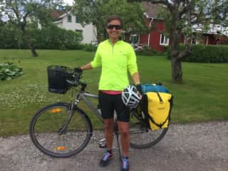 Bike touring in Sweden.