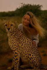 While working in a wildlife sanctuary in Namibia